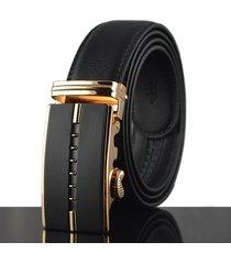 cintura di cuoio genuino di affari degli uomini 125-130cm seconda strato della cinghia di cuoio automatica dell'inarcamento