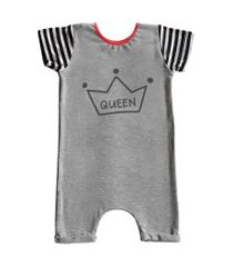 macacáo curto comfy queen cinza