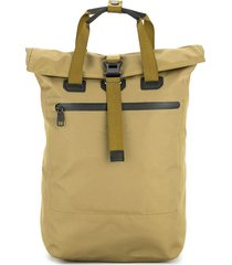 as2ov buckled square backpack - brown
