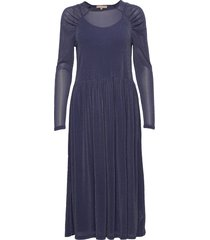 albertine dress knälång klänning blå soft rebels