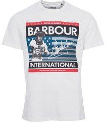 barbour t-shirt wit met opdruk