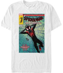 marvel men's spider-man into the spiderverse comic style spidey chill time short sleeve t-shirt