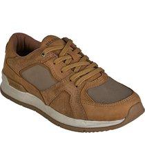 zapato cuero  textil brahma mujer miel ki2872-mie
