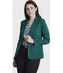 blazer manga larga verde lorenzo di pontti