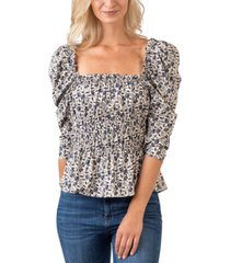 belldini black label ruched floral top