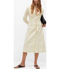 mango women's cotton shirt dress