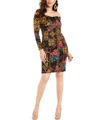 thalia sodi printed off-the-shoulder bodycon dress, created for macy's