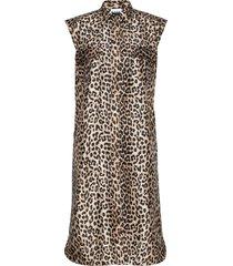 crispy jacquard jurk knielengte ganni