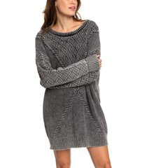roxy juniors' snow day sweater dress