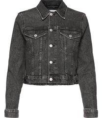 cropped denim jacket jeansjacka denimjacka blå calvin klein jeans
