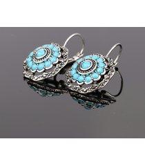 orecchini pendenti orecchio vintage orecchini fiore etnico blu scuro per le donne