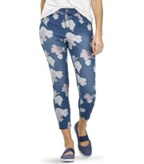 hue women's hibiscus high rise denim skimmer leggings