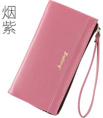 gran capacidad cartera para mujer/ billetera estampada-rosa