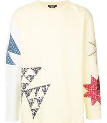 calvin klein 205w39nyc patchwork crew neck sweatshirt - yellow