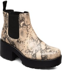 dioon shoes boots ankle boots ankle boots with heel beige vagabond