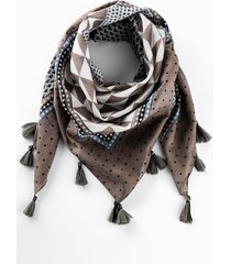 foulard con nappine (grigio) - bpc bonprix collection