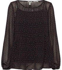 blouses woven blus långärmad grå edc by esprit