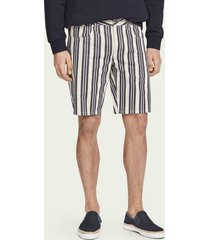 scotch & soda ralston short - stripe out | mid rise slim fit