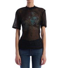 off-white fishnet t-shirt