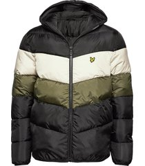 colour block puffa jacket gevoerd jack multi/patroon lyle & scott