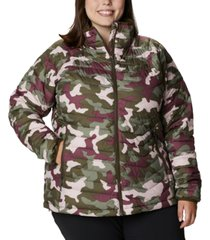columbia plus size powder lite camouflage quilted puffer jacket
