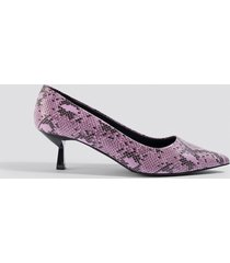 na-kd shoes snake printed pumps - pink