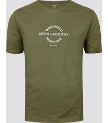 t-shirt i bomull med mönster - mörk militärgrön