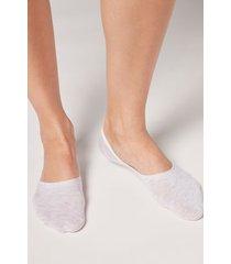 calzedonia unisex cotton invisible socks woman grey size 42-43