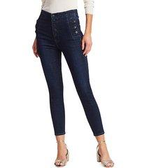 j brand women's natasha sky high-rise crop skinny jeans - reality - size 32 (10-12)