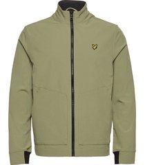 funnel neck softshell jacket dun jack beige lyle & scott