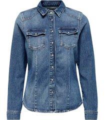 jeansskjorta onlrock it life l/s denim shirt