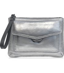 rag & bone designer handbags, aluminum field wristlet puffer