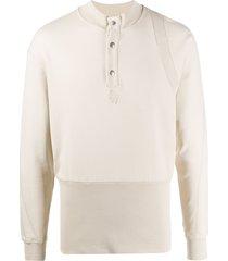 a-cold-wall* rib-panel sweatshirt - neutrals