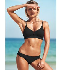 seafolly quilted bralette bikini black