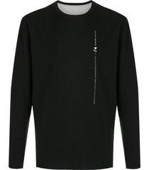 osklen rose print reversible t-shirt - black