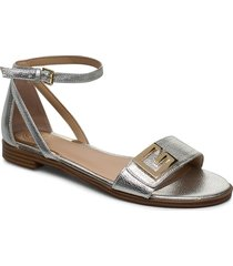 rashida2/sandalo /leat shoes summer shoes flat sandals silver guess