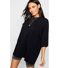 basic oversized t-shirt, zwart
