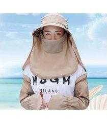 verano femenino nuevo sombrero para el sol transpirable-khaki