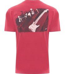 t-shirt masculina color skate guitar - vermelho