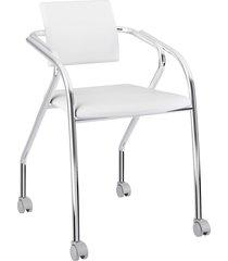 cadeira 1713 caixa com 1 napa móveis carraro branco