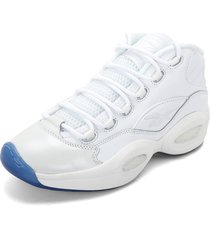 tenis basketball blanco-azul reebok question mid