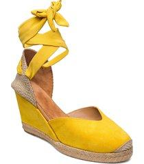 chufy_21_ks sandalette med klack espadrilles gul unisa