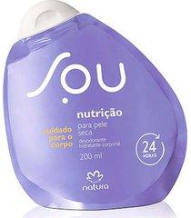 desodorante hidratante corporal nutrição para pele seca sou - 200ml
