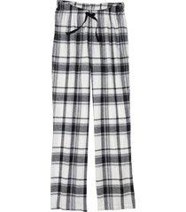 pantaloni pigiama in flanella (nero) - bpc bonprix collection