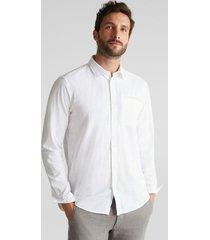 camisa en 100% algodón ecológico blanco esprit