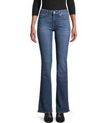 7 for all mankind women's kimmie bootcut jeans - blue multi - size 25 (2)