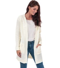 vero moda womens esme surf open cardigan size 14 in white
