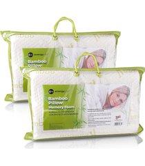 combo: 2 almohadas ortopédicas protector bamboo energy plus