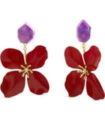 kensie acrylic flower statement earring