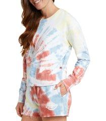dickies juniors' tie-dyed cropped sweatshirt